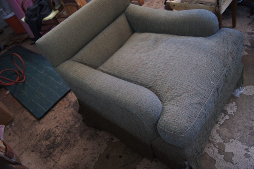comfy custom chair upholstered