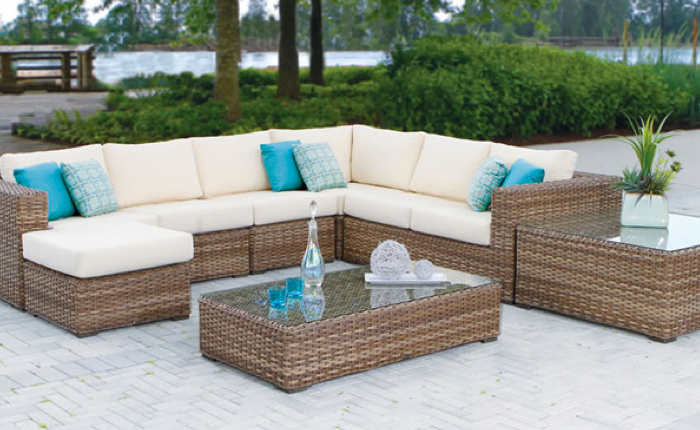 white outdoor furniture cushion set