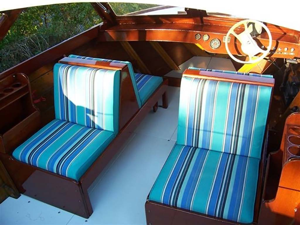 striped boat upholstery